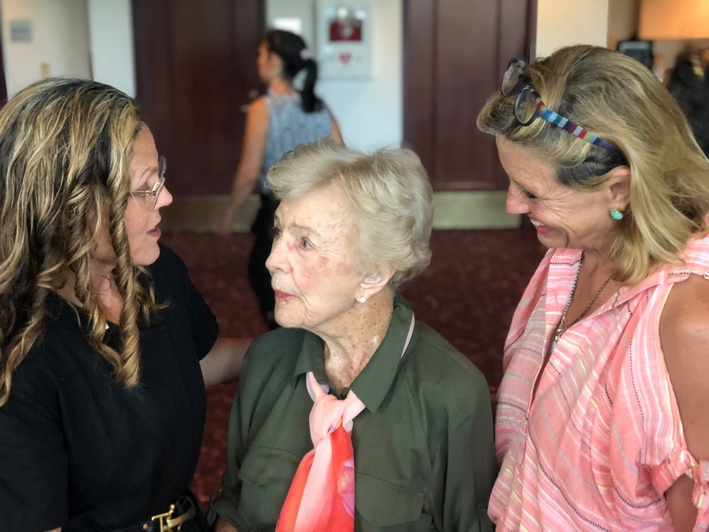 Director Irene Taylor Brodsky, Barbara Tanner and Utah Film Center Founder, Geralyn Dreyfous at the screening.